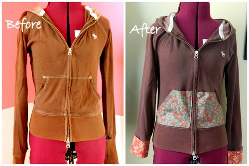 mini pip zip up hoodie tutorial