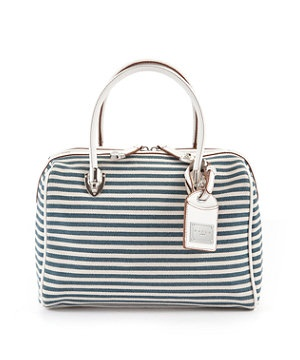 Striped bowling bag