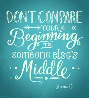 Dont compare