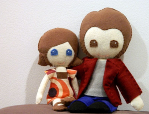 the felt couple- mini pip
