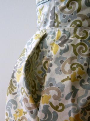 ''beautiful print for a wedding'' dress -mini pip