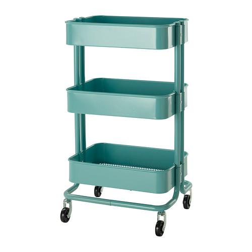 Raskog-utility-cart-turquoise